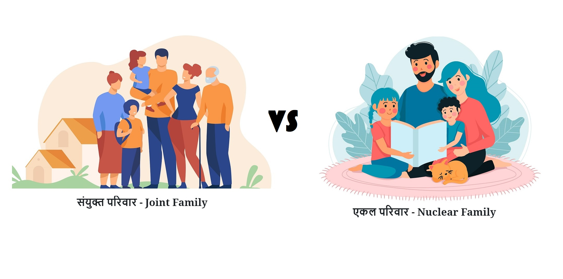 Joint family vs nuclear family